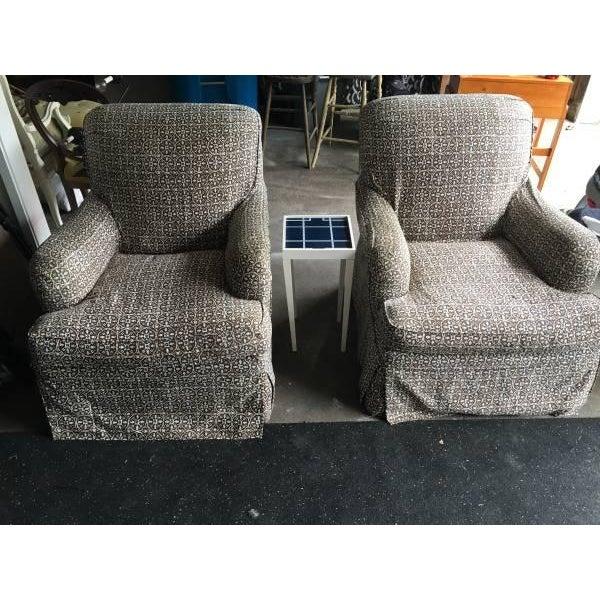 Lee Industries Designer Club Chairs - Pair - Image 2 of 5