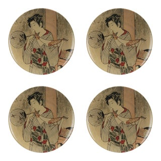 Kyoto Style B Dinner Plate - Set of 4 For Sale