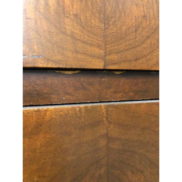 Antique Square Brass Pulls Wood Dresser For Sale - Image 4 of 11