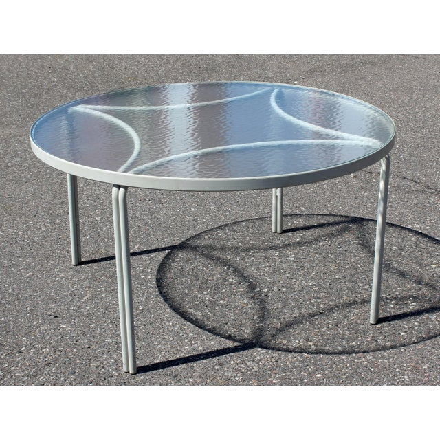 Glass Mid-Century Modern Brown Jordan Kantan Patio Dinette Set Table Four Chairs 1960s For Sale - Image 7 of 8