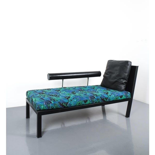 Animal Skin Leather Chaise Lounge Baisity by Antonio Citterio for B&b Italy For Sale - Image 7 of 8