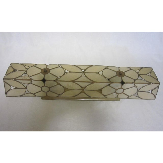 Capiz Shell Vanity Light For Sale - Image 4 of 5