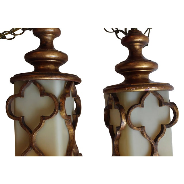 Moorish Inspired Lanterns - A Pair - Image 6 of 8