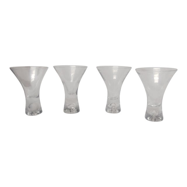 1960s American Classical Heavy Crystal Shot Glasses - Set of 4 For Sale