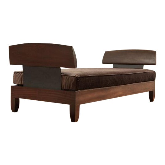 21st Century Contemporary Ralph Pucci Mahogany Daybed For Sale