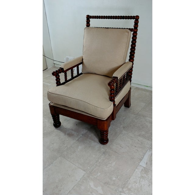 J. Robert Scott 1980s Robert Scott Walnut Accent Chair For Sale - Image 4 of 11
