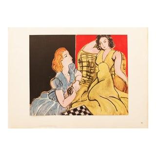 "1946 Henri Matisse, ""The Conversation"" Original Period Parisian Lithograph For Sale"