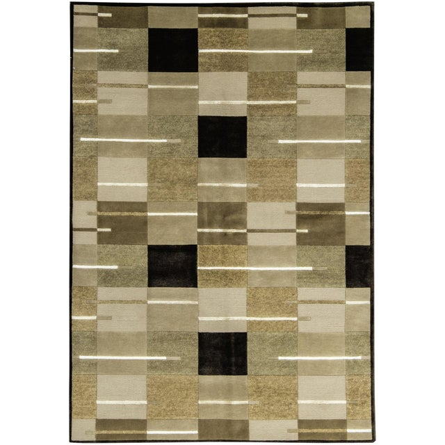 "Contemporary Hand Woven Rug - 5'8"" x 8' For Sale"