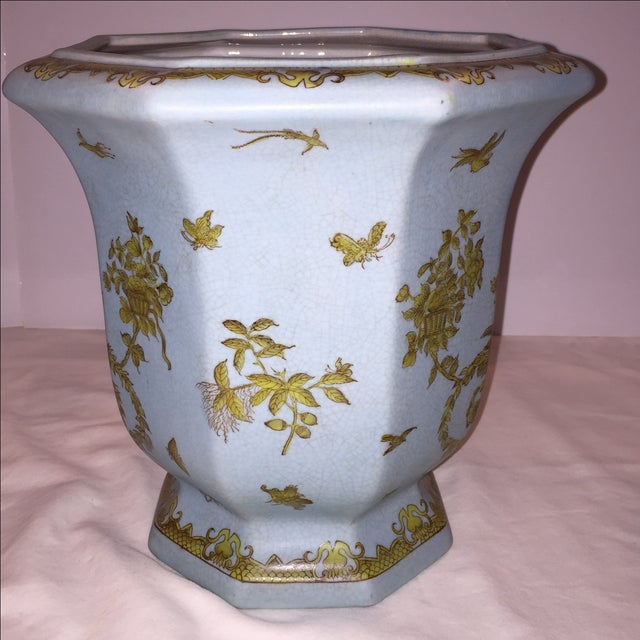 Chinese Octagonal Porcelain Planter - Image 4 of 6