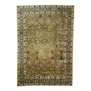 Antique Persian Tabriz with Hollywood Regency Style