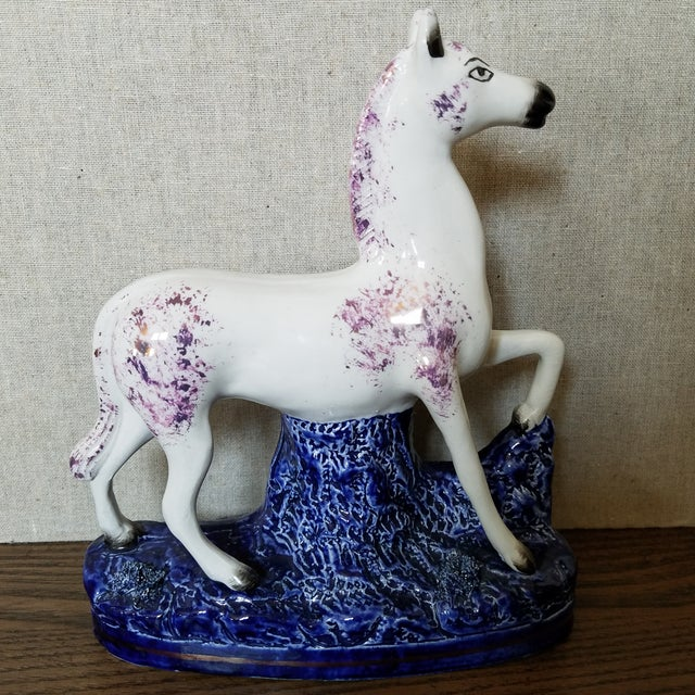 Vintage Staffordshire Style Horse For Sale - Image 11 of 11