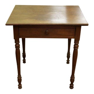 1880s American Primitive Pine Side Table For Sale