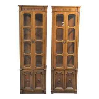 Thomasville Directoire Style Curio Cabinets - a Pair For Sale