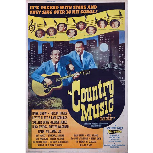 Country Music on Broadway Giant 1964 Movie Poster - Image 1 of 2