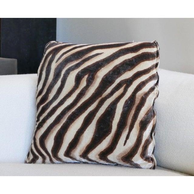 Velvet Tiger Pillow For Sale - Image 4 of 5