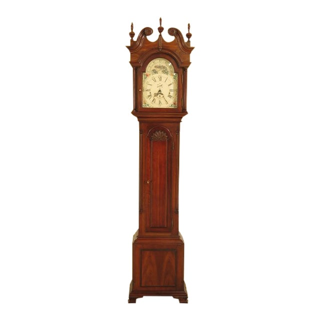 Sligh John Goddard Cherry Grandfather Clock For Sale