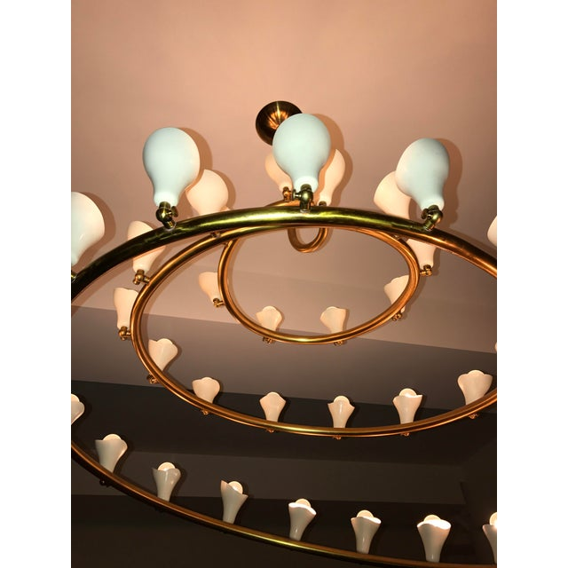 Gino Sarfatti for Arteluce Large Spiral Chandelier - Image 5 of 6