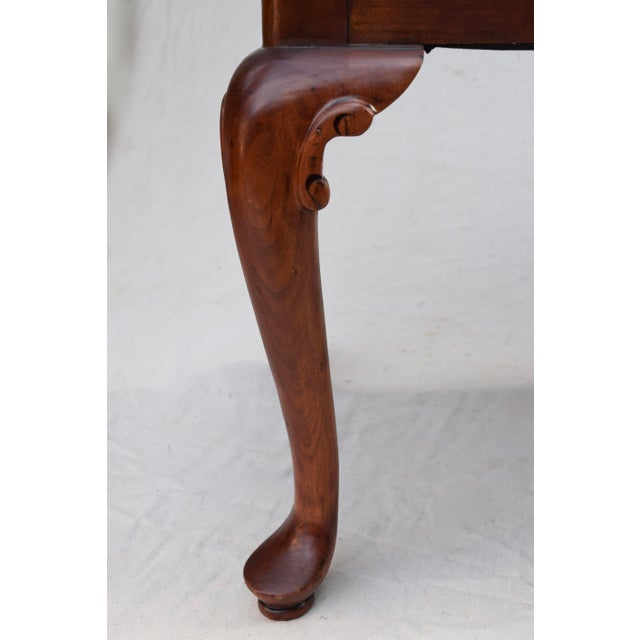 Cherry Wood Queen Anne Bench by Century For Sale - Image 7 of 11