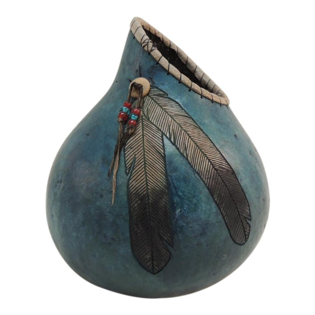 American Indian Painted Gourd Vase - Image 1 of 3