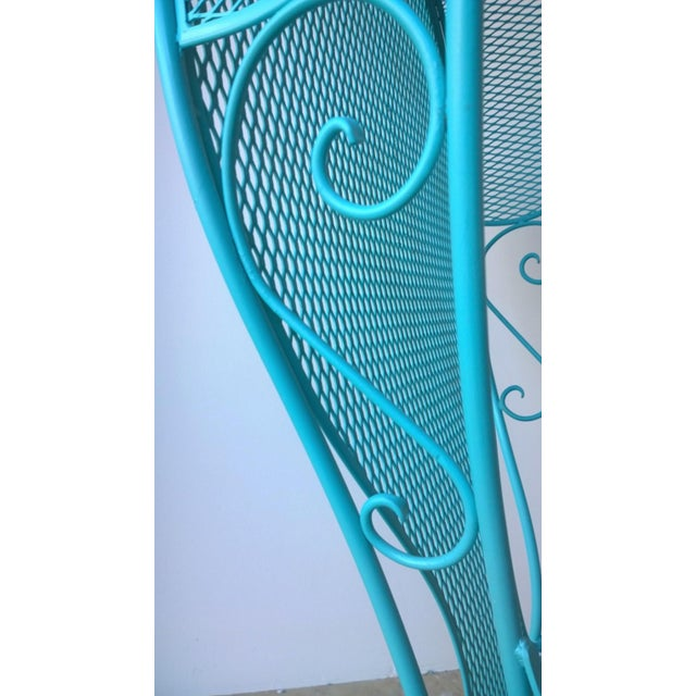 Mid-Century Modern Russell Woodard Blue Canopy Patio Chair For Sale - Image 10 of 10