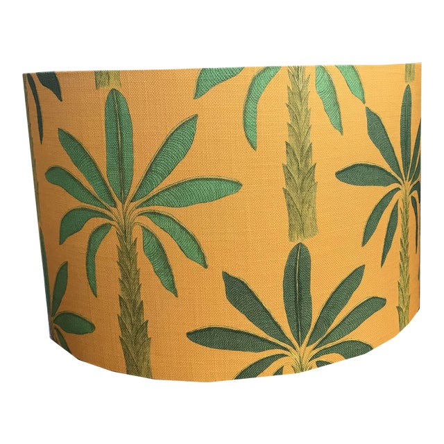 "Tropical Drum 18"" Lamp Shade in Gold Yellow For Sale"