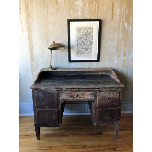 Rustic Tuscan Office Desk For Sale - Image 10 of 11