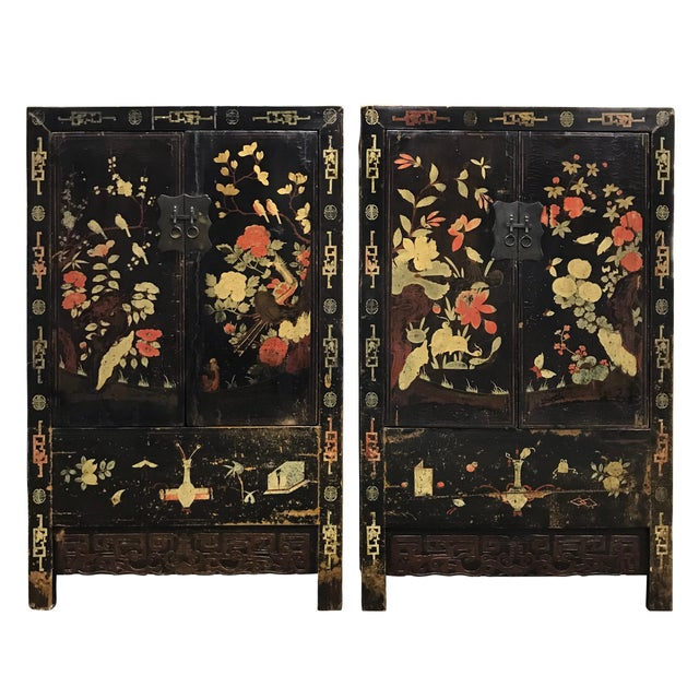 Pair of 19th Century Chinese Painted Cabinets For Sale - Image 11 of 11