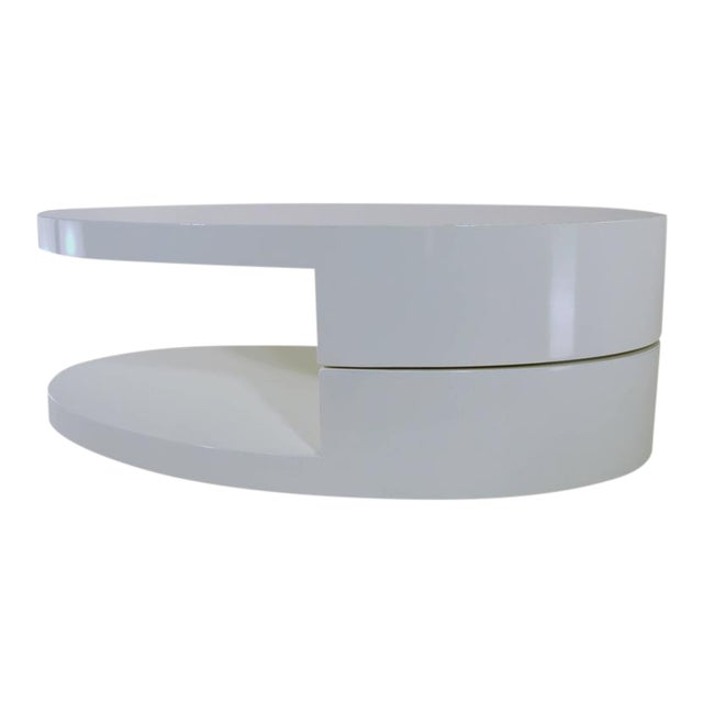 Rotating Coffee Table in the Manner of Gabriella Crespi For Sale