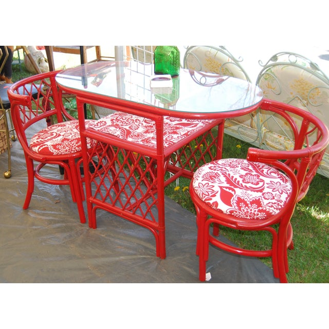 Vintage Rattan Chat Dining Set - Image 6 of 6