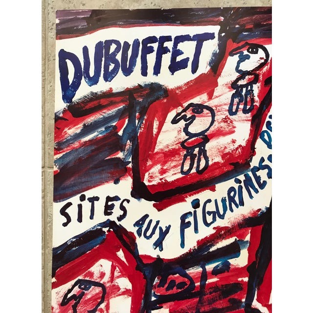 Jean Dubuffet 1981 Jean Dubuffet Centre Georges Pompidou Exhibition Poster For Sale - Image 4 of 6