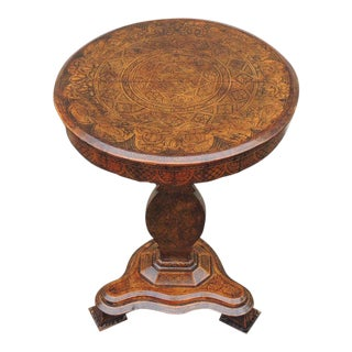 Early 19th C Spanish Walnut Tilt-Top Table For Sale