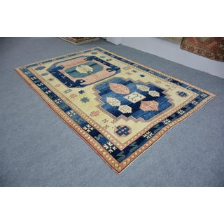 1970s Vintage Turkish Oushak Wool Rug- 6′9″ × 9′10″ Preview