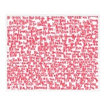 Haha Pink Two by Kate Roebuck in White Framed Paper, XS Art Print