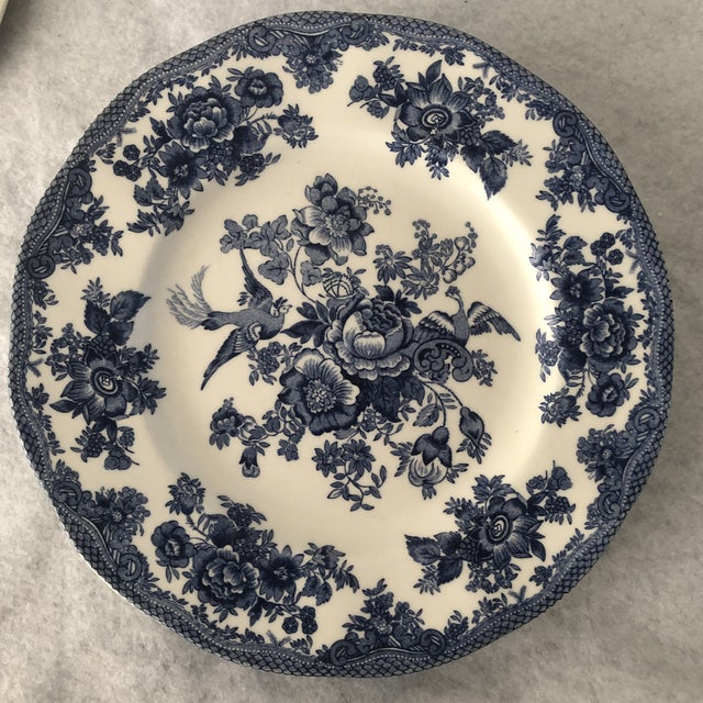 Asiatic Pheasant Johnson Brothers Blue and White Plates - 4 Pieces For Sale - Image 9 of 11