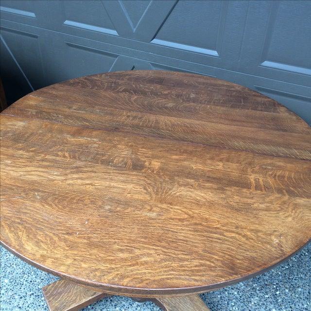 Oak Barley Twist Table - Image 4 of 4