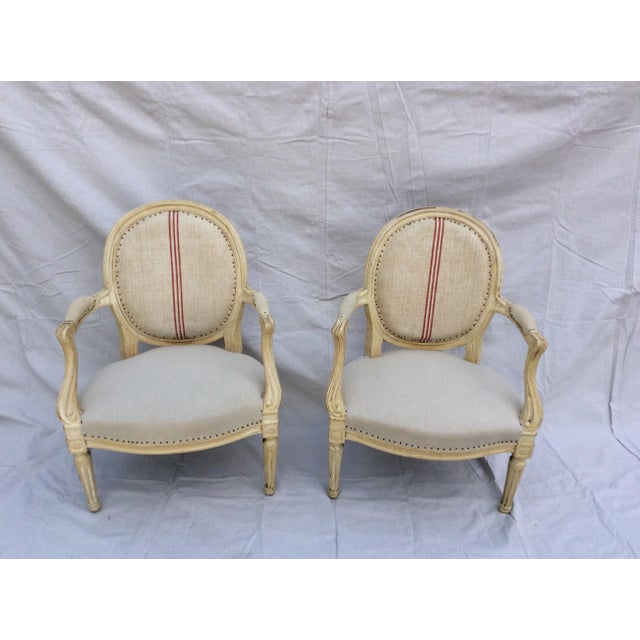 Vintage French Side Chairs - a Pair For Sale - Image 9 of 9