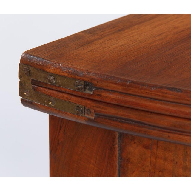 1830s Vintage French Louis Philippe Demi Lune Walnut Table For Sale - Image 10 of 10