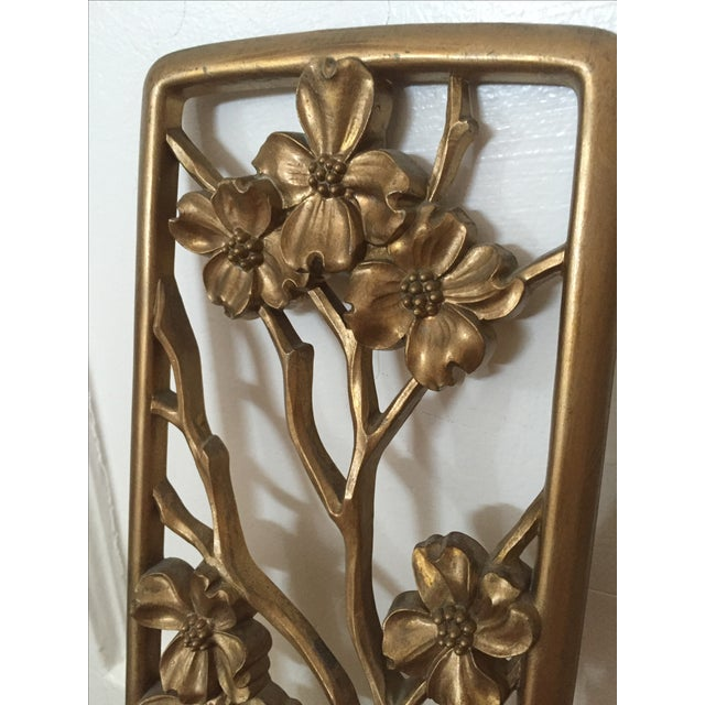Vintage Floral Wall Plaques - Set of 2 - Image 4 of 5