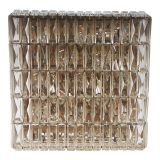 Large Crystal Flush Mount Lamp or Sconce by Bakalowits and Sohne For Sale