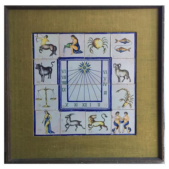 Framed Mid-Century Modern Zodiac Tiles For Sale In Richmond - Image 6 of 8