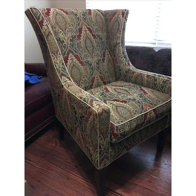 Sherrill Furniture Wing Chair - Image 3 of 5