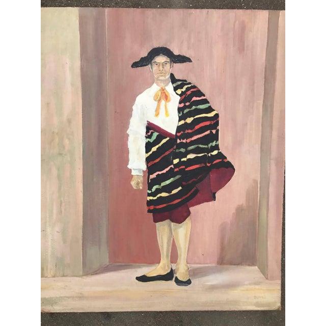 Mid-Century Spanish Bullfighter Painting - Image 5 of 6