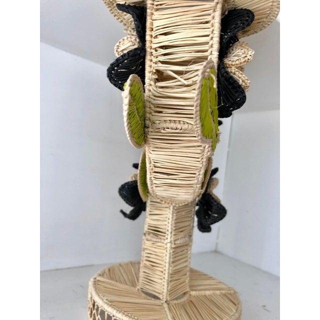 2010s Mercedes Salazar Handmade Straw Candleholder For Sale - Image 5 of 7