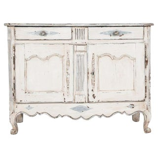 Early 19th Century French Louis XV Style Painted Buffet For Sale
