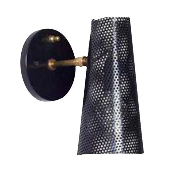 Sabin Mid-Century Glenfeliz Black Sconce - Image 1 of 3