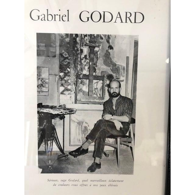 Gabriel Godard Abstract Artist Studio Portrait framed, glass. Ready for wall handing. 9.5 x 12.75 frame size.