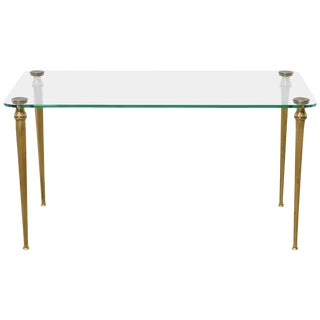 Brass Elegant Coffee, Cocktail Table, France, 1970s For Sale