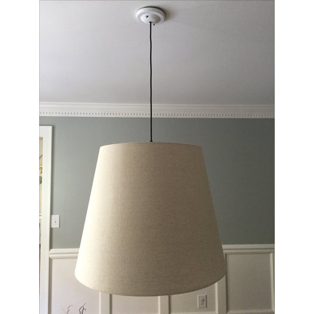 Tapered Drum Pendant in Linen - Image 2 of 6