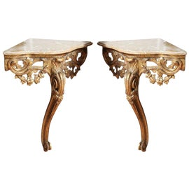 Image of Corner Console Tables