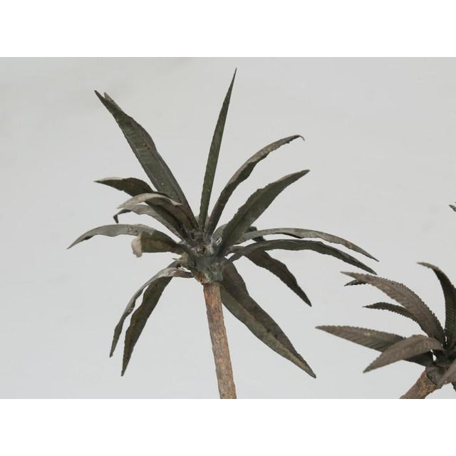 French Metal Palm Trees in Clay Pots For Sale - Image 10 of 13